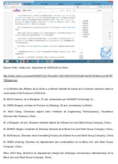 Crash Air France indemnisation chinois (4)