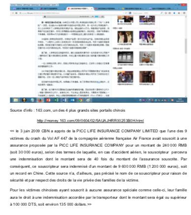 Crash Air France indemnisation chinois (3)