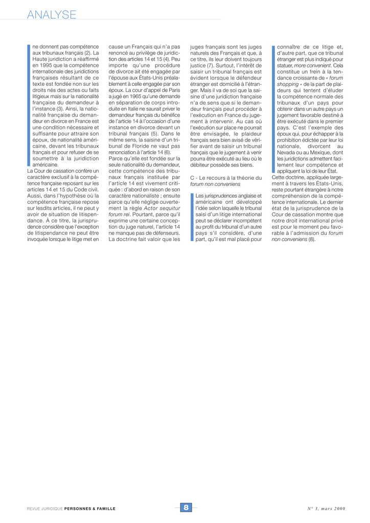 Du divorce du couple franco-américain séparé de biens (4)