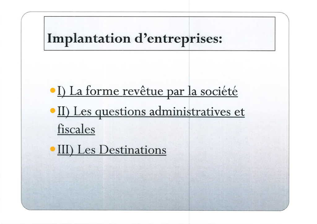 Aspects juridiques de l'implantation d'entreprises françaises à l'étranger : l'exemple des Etats-Unis (4)