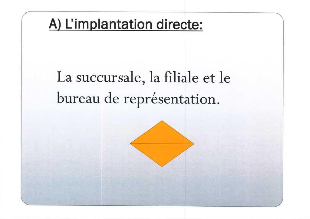 Aspects juridiques de l'implantation d'entreprises françaises à l'étranger : l'exemple des Etats-Unis (6)