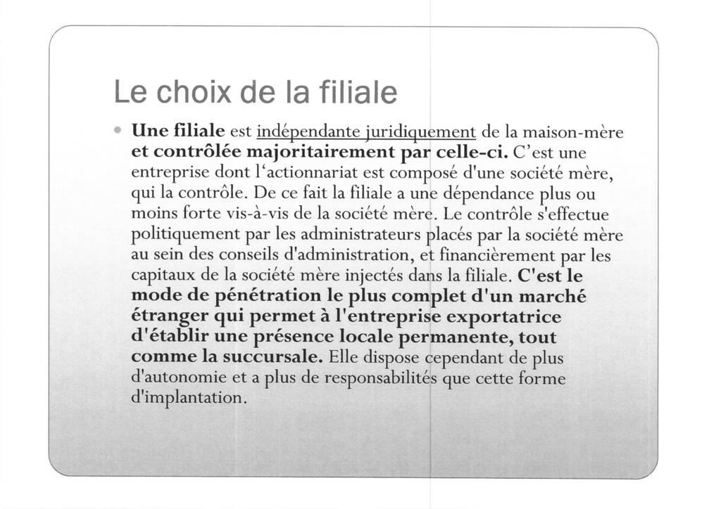 Aspects juridiques de l'implantation d'entreprises françaises à l'étranger : l'exemple des Etats-Unis (8)