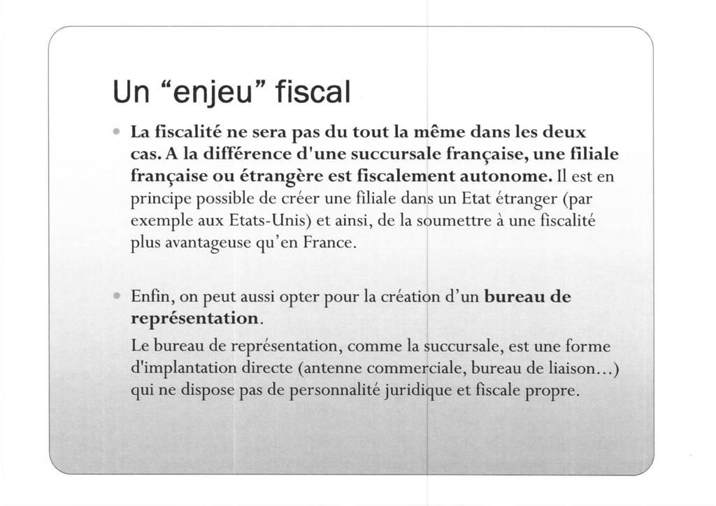 Aspects juridiques de l'implantation d'entreprises françaises à l'étranger : l'exemple des Etats-Unis (9)