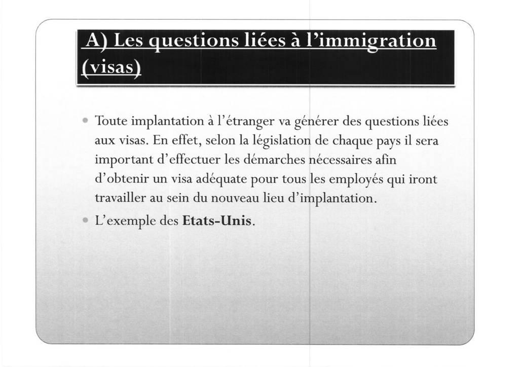 Aspects juridiques de l'implantation d'entreprises françaises à l'étranger : l'exemple des Etats-Unis (15)