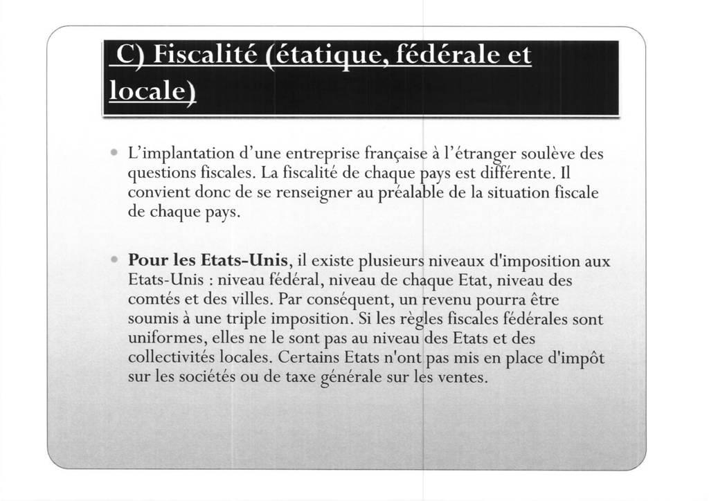 Aspects juridiques de l'implantation d'entreprises françaises à l'étranger : l'exemple des Etats-Unis (17)