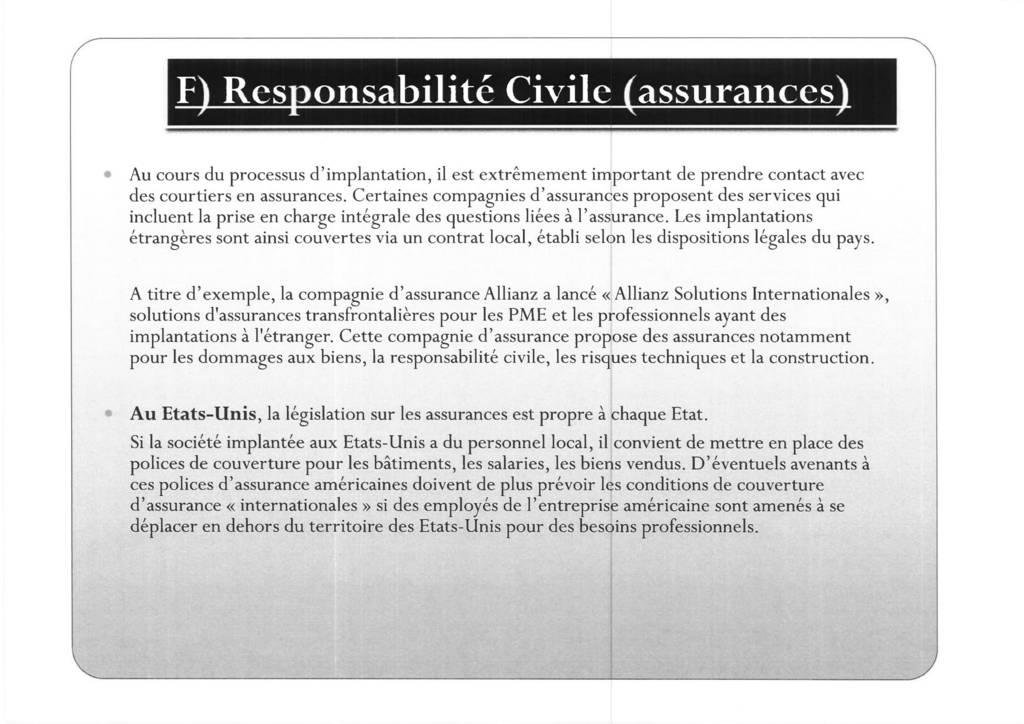 Aspects juridiques de l'implantation d'entreprises françaises à l'étranger : l'exemple des Etats-Unis (20)